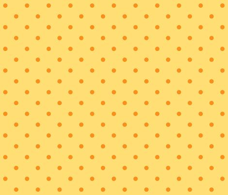 Chick Chick Yellow Polka dots fabric by lana_gordon_rast_ on Spoonflower - custom fabric