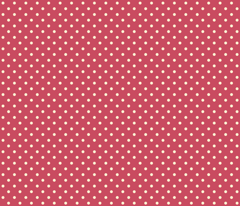 Chick Chick Red and White polka Dots fabric by lana_gordon_rast_ on Spoonflower - custom fabric