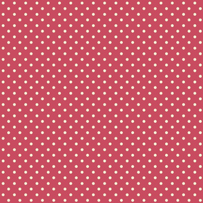 Chick Chick Red and White polka Dots