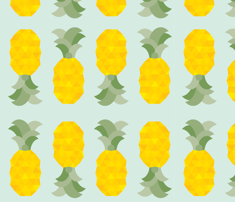 pineapples fabric by annaboo on Spoonflower - custom fabric