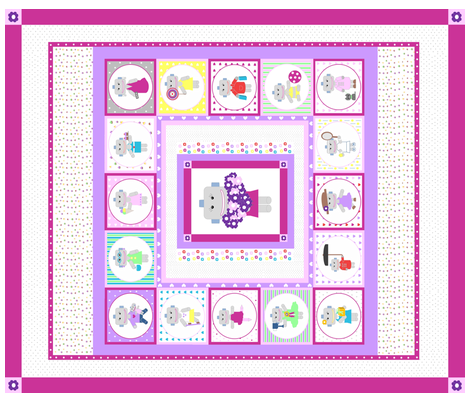 cute_robot_cheaters_quilt fabric by lonneponbonbon on Spoonflower - custom fabric
