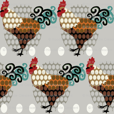 Rooster Parade / vintage