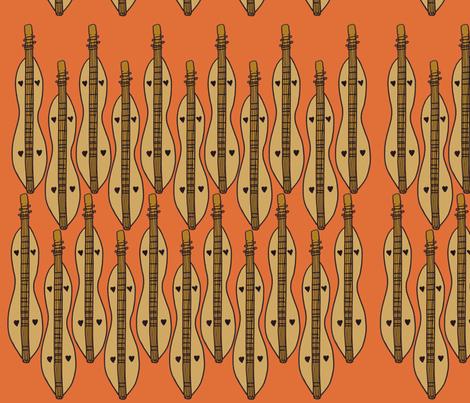 Dizzy Dulcimer fabric by illustratedbyjenny on Spoonflower - custom fabric