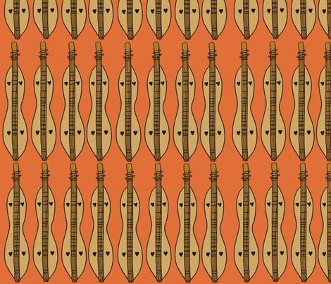 Dulcimers (straight across) fabric by illustratedbyjenny on Spoonflower - custom fabric