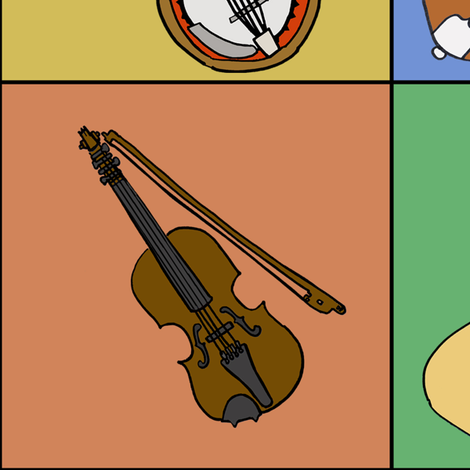 Musical Patches  fabric by illustratedbyjenny on Spoonflower - custom fabric