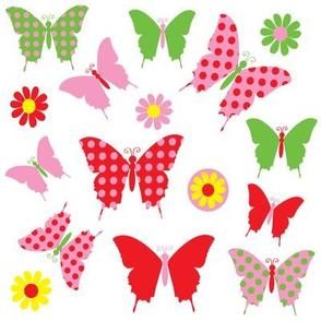 butterfly flower fly