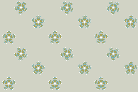 Matilda_Green_ii fabric by designedtoat on Spoonflower - custom fabric