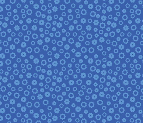 Robot Gears (Blue) fabric by robyriker on Spoonflower - custom fabric