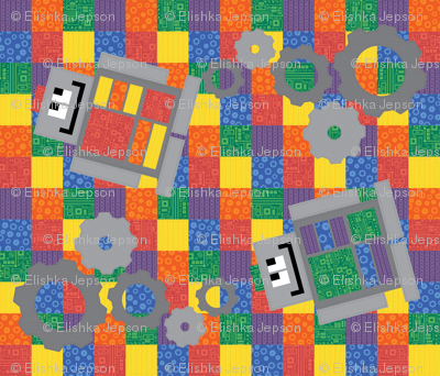 Bots for Tots Cheater Quilt
