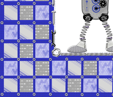 Ro-Buddy Robot fabric by dancingwithfabric on Spoonflower - custom fabric