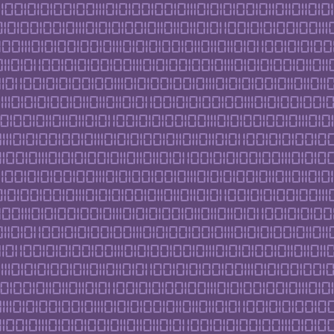 Robot Binary (Purple) fabric by robyriker on Spoonflower - custom fabric