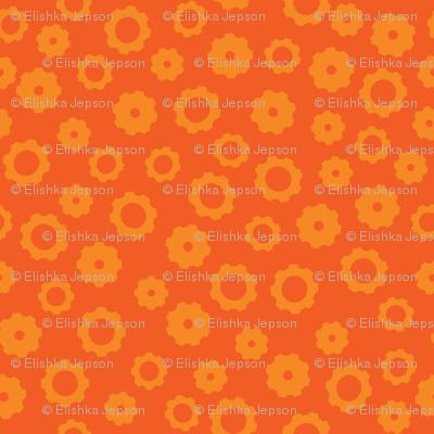 Robot Gears (Orange)