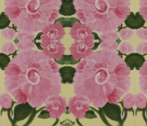 Pink roses fabric by brandymiller on Spoonflower - custom fabric