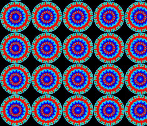 Flower Power - Bleeding Hearts  Mandala 10 fabric by dovetail_designs on Spoonflower - custom fabric