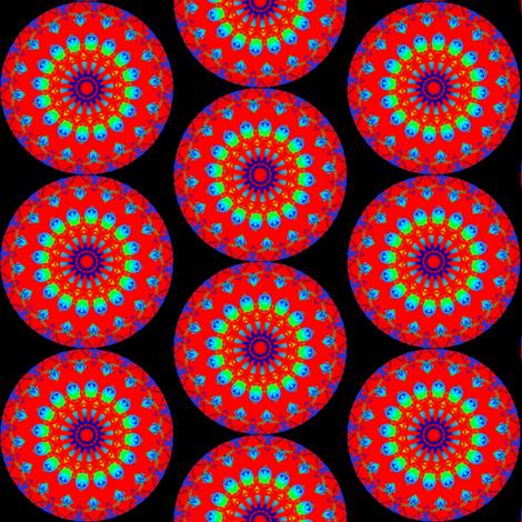 Bleeding Hearts Mandala 5 fabric by dovetail_designs on Spoonflower - custom fabric