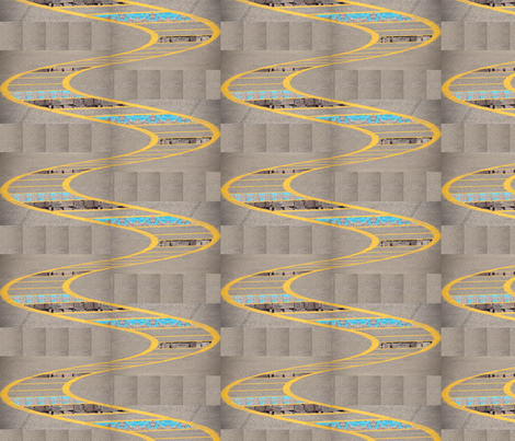 Brick Paint Yellow Ladder fabric by upcyclepatch on Spoonflower - custom fabric