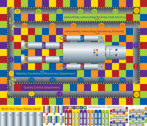 Build_Your_Own_Robot_Game fabric by karenmayo on Spoonflower - custom fabric