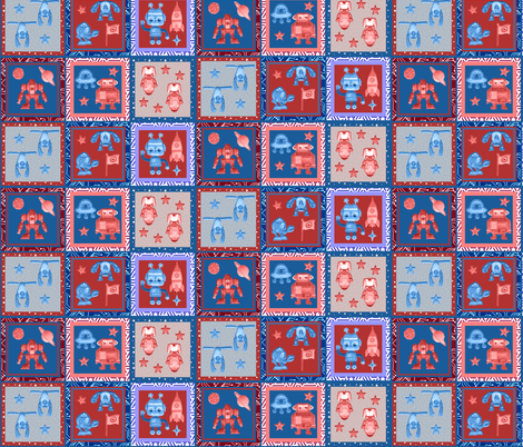 robot_cheater_quilt_march2012 fabric by dervishheart on Spoonflower - custom fabric