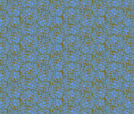 Firepuff Blue Winds fabric by glimmericks on Spoonflower - custom fabric