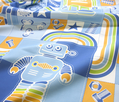 I love robots cheater quilt