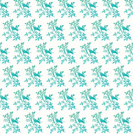 bluebirdprint fabric by spoonflowercherie on Spoonflower - custom fabric