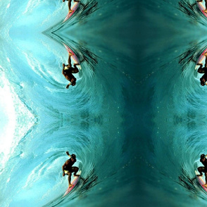 Tubed Surfer