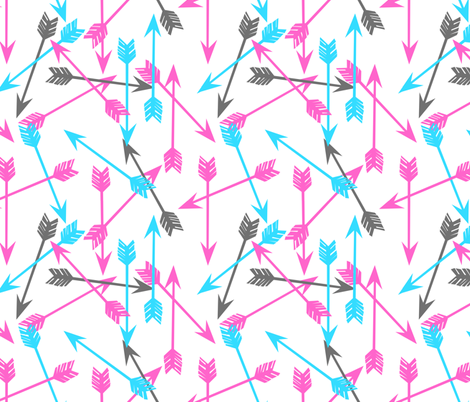 arrow // arrows girls turquoise aqua pink and grey cute girls arrows fabric by andrea_lauren on Spoonflower - custom fabric