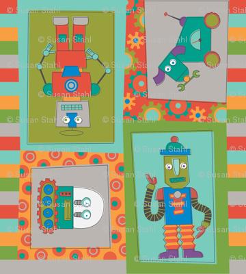 robot cheater quilt