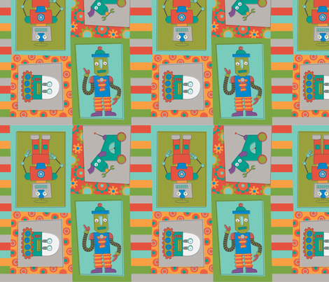 robot cheater quilt fabric by lily_studio on Spoonflower - custom fabric