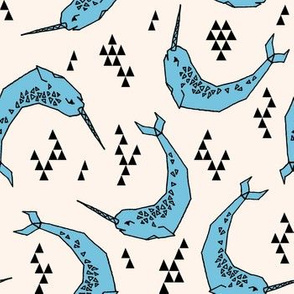 Narwhal // blue and cream narwhals