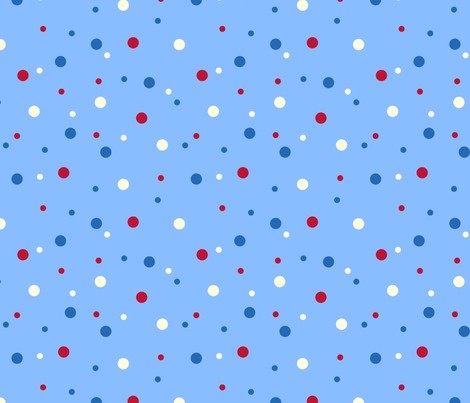 robo_puppy_confetti_dot_light_blue fabric by victorialasher on Spoonflower - custom fabric