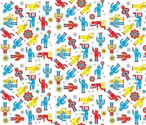 Random_Robots fabric by joofalltrades on Spoonflower - custom fabric