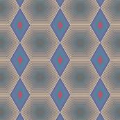 Hexagon Blue and Beige