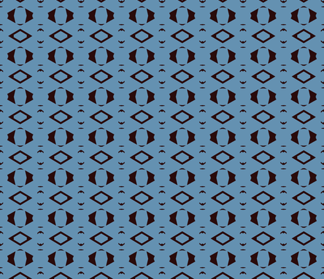 Chatter Box blue fabric by knita on Spoonflower - custom fabric