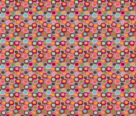 Fringe Daisy _pink fabric by hoodiecrescent&stars on Spoonflower - custom fabric