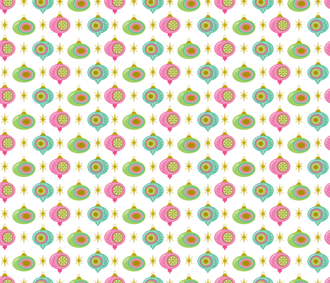 Vintage Style Christmas Ornaments fabric by retrorudolphs on Spoonflower - custom fabric