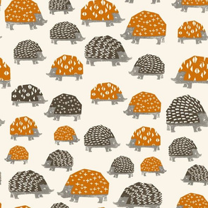 Hedgehogs // fall autumn brown and orange camping outdoors