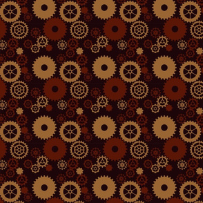 Burgundy and Brown Gears