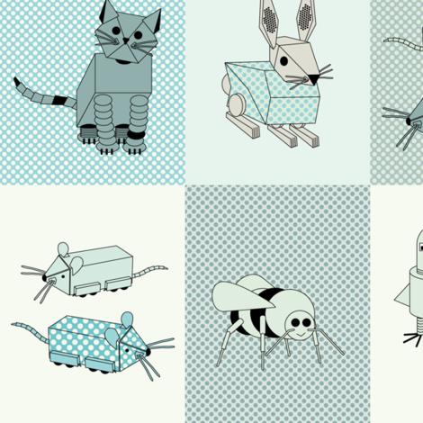 eulen&lerchen_robotanimals fabric by eulen&lerchen on Spoonflower - custom fabric