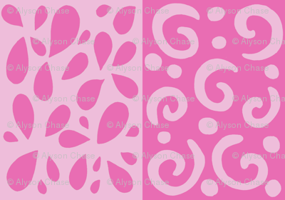 petals and swirl in pinks
