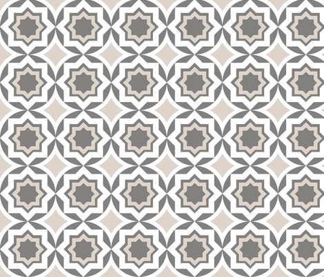 circlestargrey fabric by mgterry on Spoonflower - custom fabric