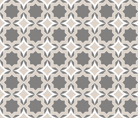 circlestargrey2 fabric by mgterry on Spoonflower - custom fabric