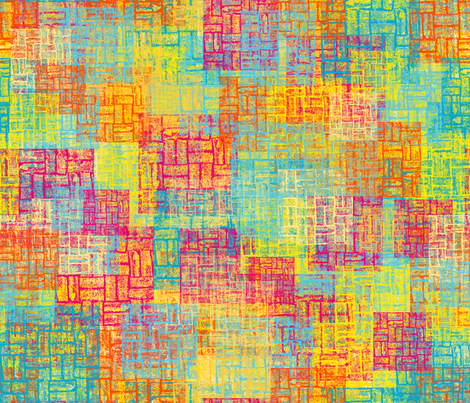 Urban Sunset fabric by coloroncloth on Spoonflower - custom fabric