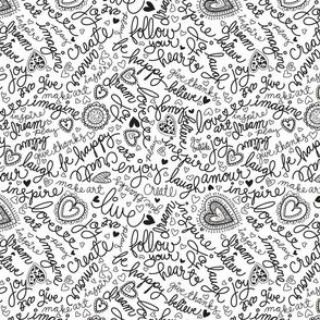 Doodle words