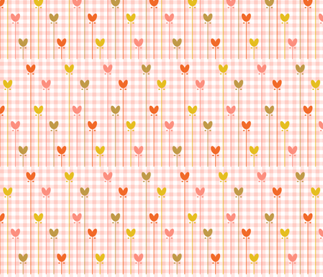 heart-gingham fabric by bunnypumpkin on Spoonflower - custom fabric