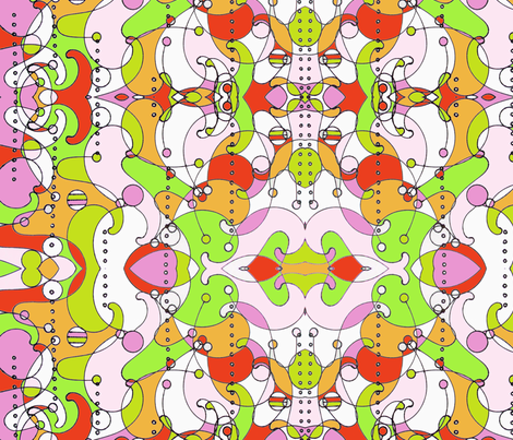 Kaleidoscope -  orange fabric by bettieblue_designs on Spoonflower - custom fabric