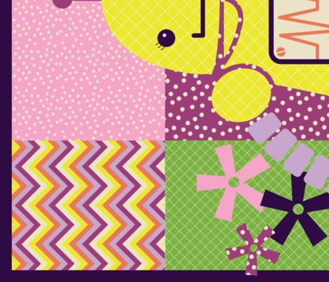 Girls Like Robots, Too!!! QUILT fabric by natasha_k_ on Spoonflower - custom fabric