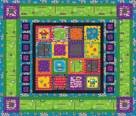 RobotQuilt fabric by ghennah on Spoonflower - custom fabric