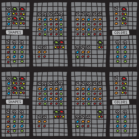 RobotSwitchBoard fabric by ghennah on Spoonflower - custom fabric