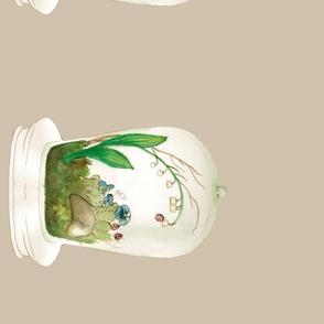 The Forest Under Glass Ecru